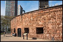 Circular fort, Castle Clinton National Monument. NYC, New York, USA ( color)