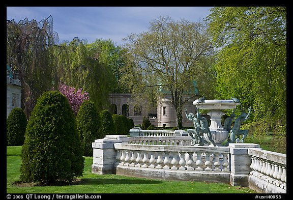 Grounds of The Elms. Newport, Rhode Island, USA (color)