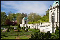 Sunken garden and pavilions, The Elms. Newport, Rhode Island, USA ( color)
