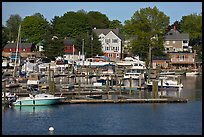 Recreational harbor on the Providence River. Providence, Rhode Island, USA ( color)
