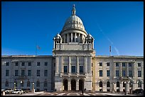 North Facade of Rhode	Island State House. Providence, Rhode Island, USA (color)