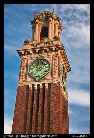 Carrie Tower, at sunset, Brown University. Providence, Rhode Island, USA