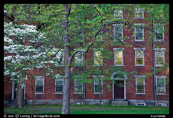 Hope College (1822), Brown University campus. Providence, Rhode Island, USA (color)