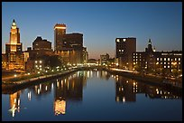 Providence Skyline at dusk. Providence, Rhode Island, USA (color)