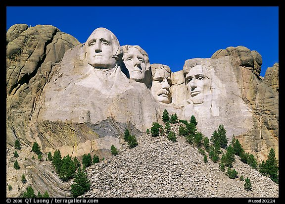 Picture photo monumental sculpture of us presidents