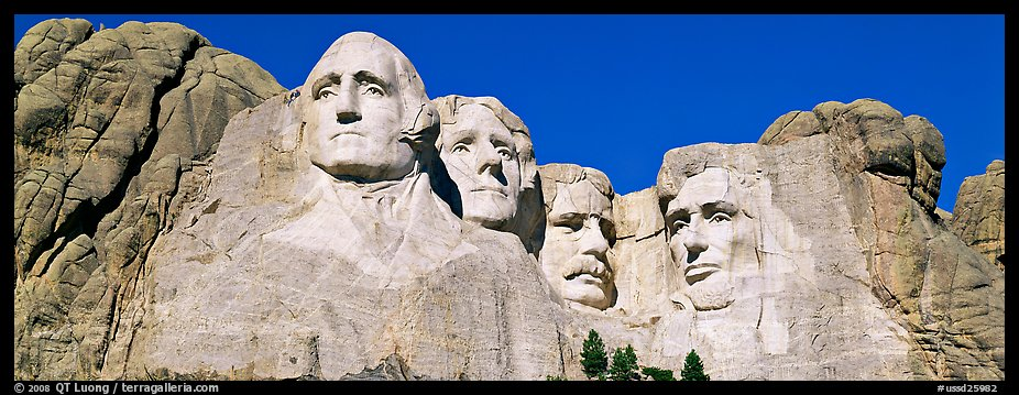 Panoramic Picture Photo Us Presidents Mount Rushmore
