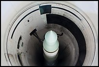 Minuteman II missile in silo. Minuteman Missile National Historical Site, South Dakota, USA (color)