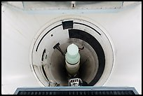 Intercontinental nuclear missile silo. Minuteman Missile National Historical Site, South Dakota, USA (color)