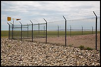 Perimeter enclosure of missile launch facility. Minuteman Missile National Historical Site, South Dakota, USA (color)