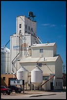 Grain elevator, Belle Fourche. South Dakota, USA (color)