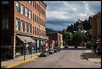 Main street, Deadwood. Black Hills, South Dakota, USA (color)