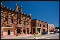 City Hall on main street, Hot Springs. Black Hills, South Dakota, USA (color)