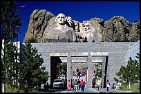 Entrance of Alley of the Flags,  Mount Rushmore National Memorial. South Dakota, USA ( color)