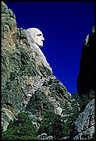 George Washington profile, Mount Rushmore National Memorial. South Dakota, USA