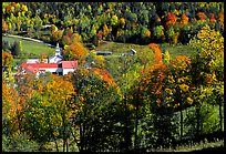 East Topsham village in autumn. Vermont, New England, USA (color)