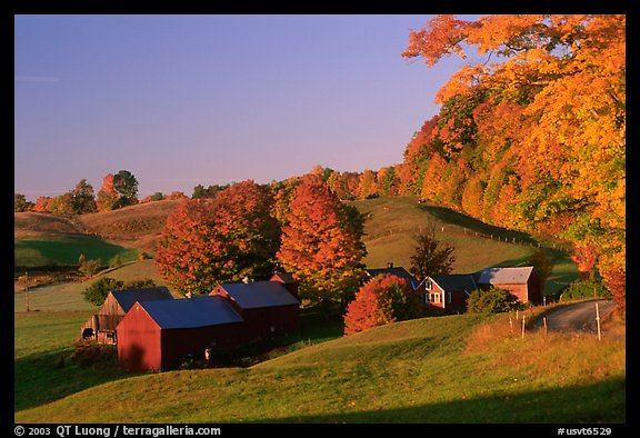 Jenne Farm, sunrise. Vermont, New England, USA (color)