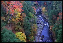 Quechee Gorge in autumn. Vermont, New England, USA
