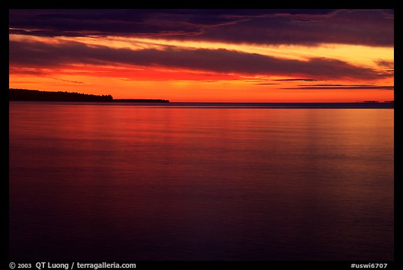Apostle Islands National Lakeshore at sunset. Wisconsin, USA (color)