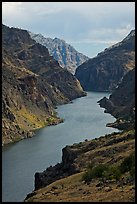 Deepest river-cut canyon in the United States. Hells Canyon National Recreation Area, Idaho and Oregon, USA (color)