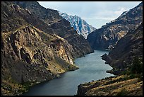Snake River Gorge. Hells Canyon National Recreation Area, Idaho and Oregon, USA (color)