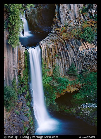 Basalt columns and Toketee Falls. Oregon, USA (color)