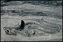 Incrustation pattern in obsidian glass close-up. Newberry Volcanic National Monument, Oregon, USA ( color)