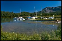 Marina, Paulina Lake. Newberry Volcanic National Monument, Oregon, USA