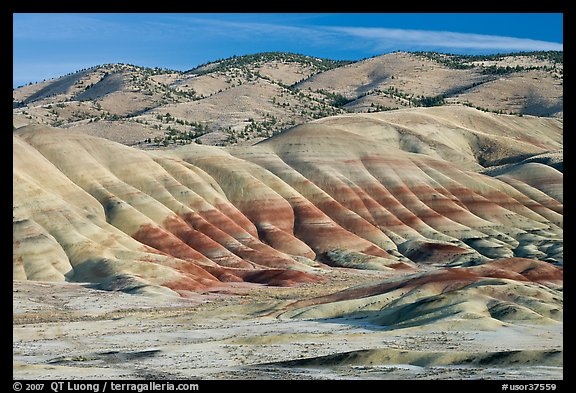 Painted hills. John Day Fossils Bed National Monument, Oregon, USA (color)