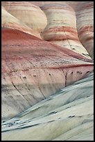 Eroded volcanic ash hummocks. John Day Fossils Bed National Monument, Oregon, USA (color)