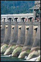 Bonneville Dam. Columbia River Gorge, Oregon, USA ( color)
