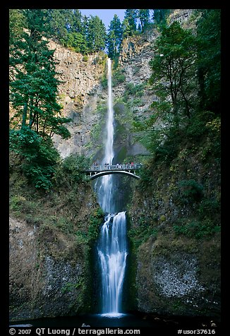 Multnomah Falls. Columbia River Gorge, Oregon, USA (color)