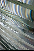Pattern in lighthouse Fresnel lens, Cap Meares. Oregon, USA ( color)