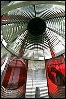Light and glass prism, Cap Meares lighthouse. Oregon, USA
