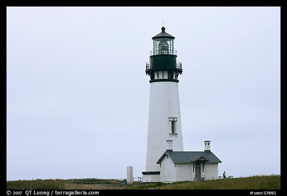 Lighthouse at Yaquina Head. Newport, Oregon, USA (color)