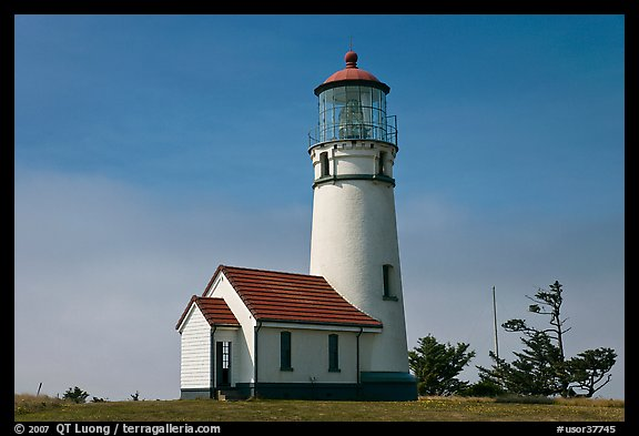 Cape Blanco Lighthouse. Oregon, USA (color)