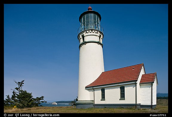 Lighthouse at Cape Blanco. Oregon, USA (color)