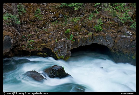 Rogue River and natural bridge. Oregon, USA (color)