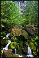 Watson Creek and Falls. Oregon, USA (color)