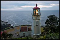 Heceta Head light and ocean,. Oregon, USA ( color)