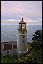 Heceta Head lighthouse at sunrise. Oregon, USA ( color)