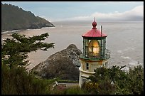 Heceta Head light and fresnel lens. Oregon, USA