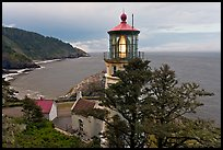 Heceta Head lighthouse and coastline. Oregon, USA ( color)