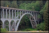 Highway 1 bridge,  Heceta Head. Oregon, USA ( color)
