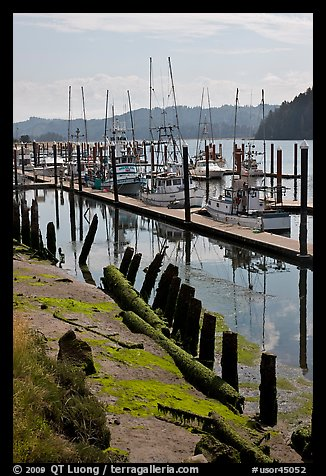 Harbor, Florence. Oregon, USA (color)