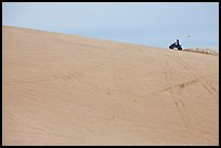 All terrain vehicle on dune crest, Oregon Dunes National Recreation Area. Oregon, USA ( color)