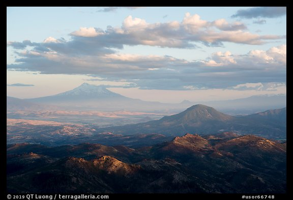Mt Shasta and Soda Mountain Wilderness. Cascade Siskiyou National Monument, Oregon, USA (color)