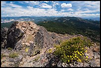 View over Soda Mountain Wilderness from top of Pilot Rock. Cascade Siskiyou National Monument, Oregon, USA ( color)