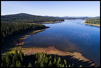 Aerial view of Hyatt Lake and Chinquapin Mountain. Cascade Siskiyou National Monument, Oregon, USA ( color)