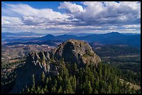 Aerial view of Pilot Rock from the north. Cascade Siskiyou National Monument, Oregon, USA ( color)