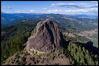 Aerial view of Pilot Rock from the south. Cascade Siskiyou National Monument, Oregon, USA ( color)